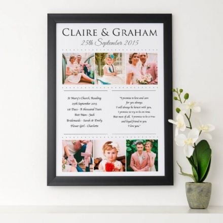 Personalised Wedding Memories Art